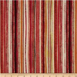Tuscan Breeze Metallic Stripes Red