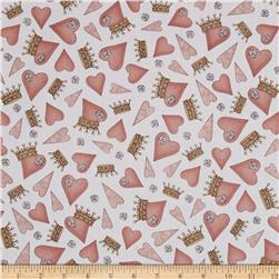 Santoro All For Love Hearts & Crowns White