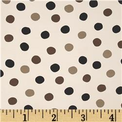 Birch Organic Mod Basics 3 Interlock Knit Pop Dots Grayscale