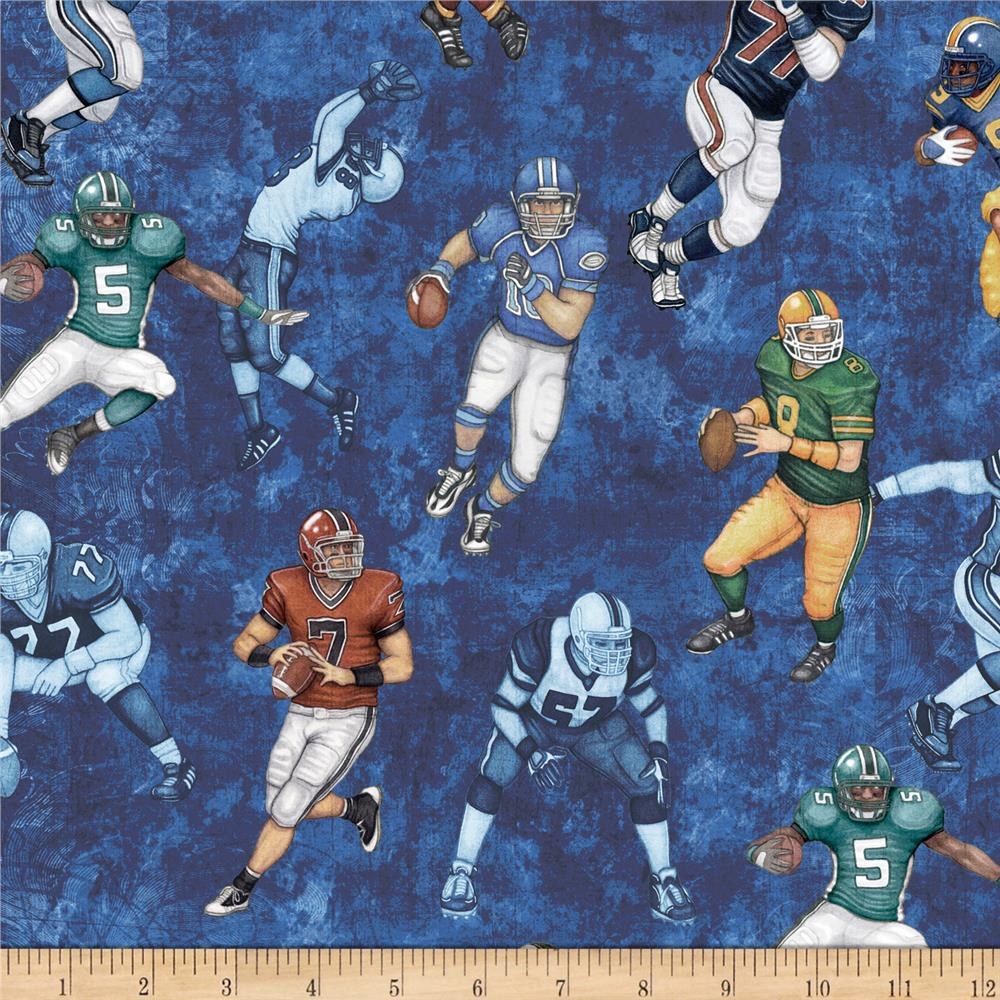 Gridiron Football Players Blue