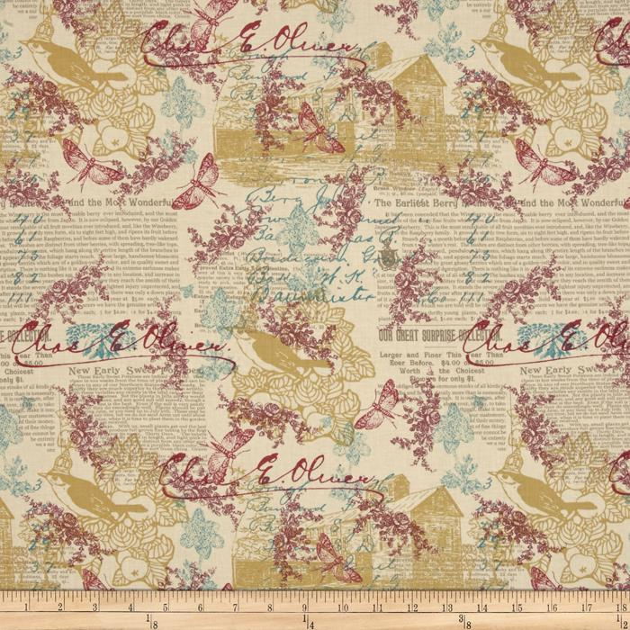 Moda Once Upon A Chicken Roselle Eggshell