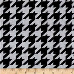 Sweater Knit Houndstooth Black/White