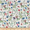 Liberty of London Kensington Crepe de Chine Temptation Meadow Red/Blue/Green