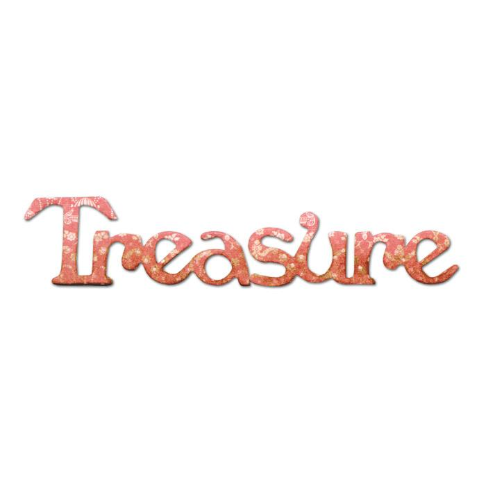 Sizzix Originals Die Phrase, Treasure Medium