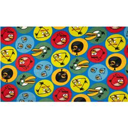 Angry Birds Fleece Circles Blue