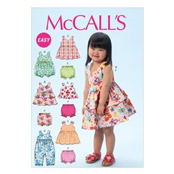 McCall's Children's/Girls' Top Dresses Shorts and Leggings