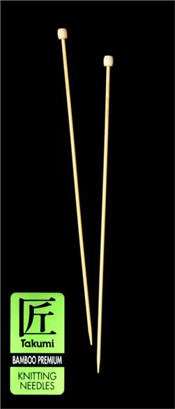 Clover Takumi Bamboo Premium Knitting Needles Single Pt. 13''- US 1 (2.25mm)