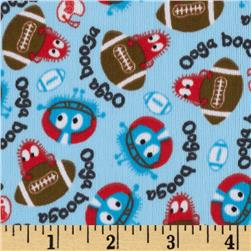 Football Ooga Booga PUL Blue Fabric