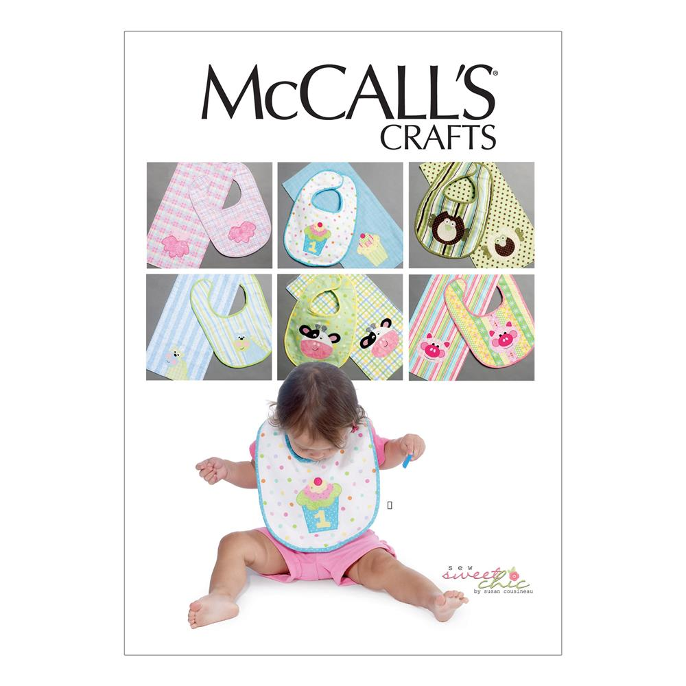 McCall's Bibs and Burp Cloths Pattern M6478 Size