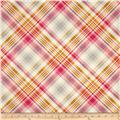 Joel Dewberry Home Decor Sateen Notting Hill Tartan Pink