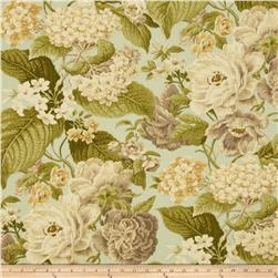 Tempo Indoor/Outdoor Floral Celadon Fabric