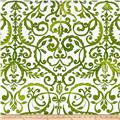 Merry Mistletoe Scrollwork Green