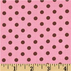Michael Miller Dumb Dot Pink Fabric