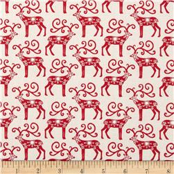 Christmas Scandi Reindeer Red
