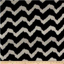 Chiffon Chevron Black/White
