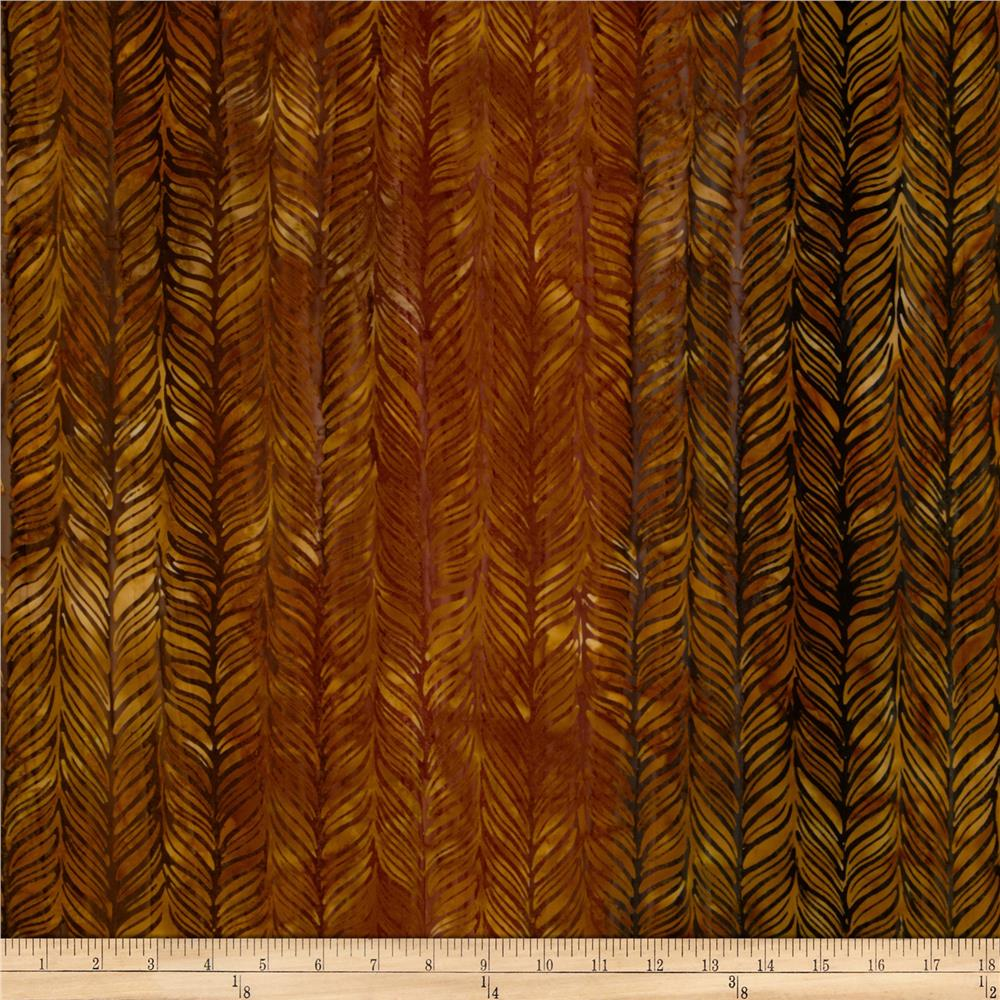 Artisan Batiks Elementals Horizontal Feather Ochre