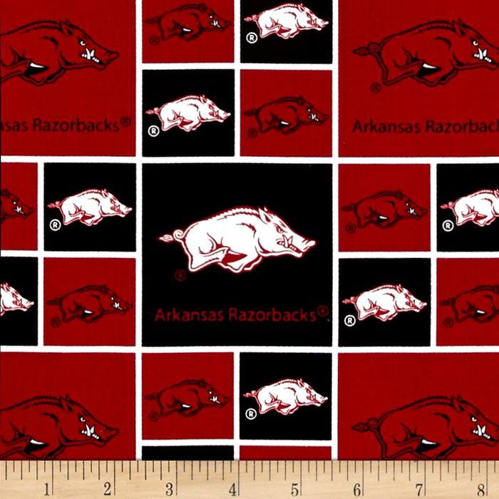 Collegiate Cotton Broadcloth Arkansas