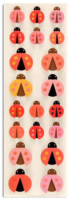 Martha Stewart Crafts Pink-Red Ladybug Stickers