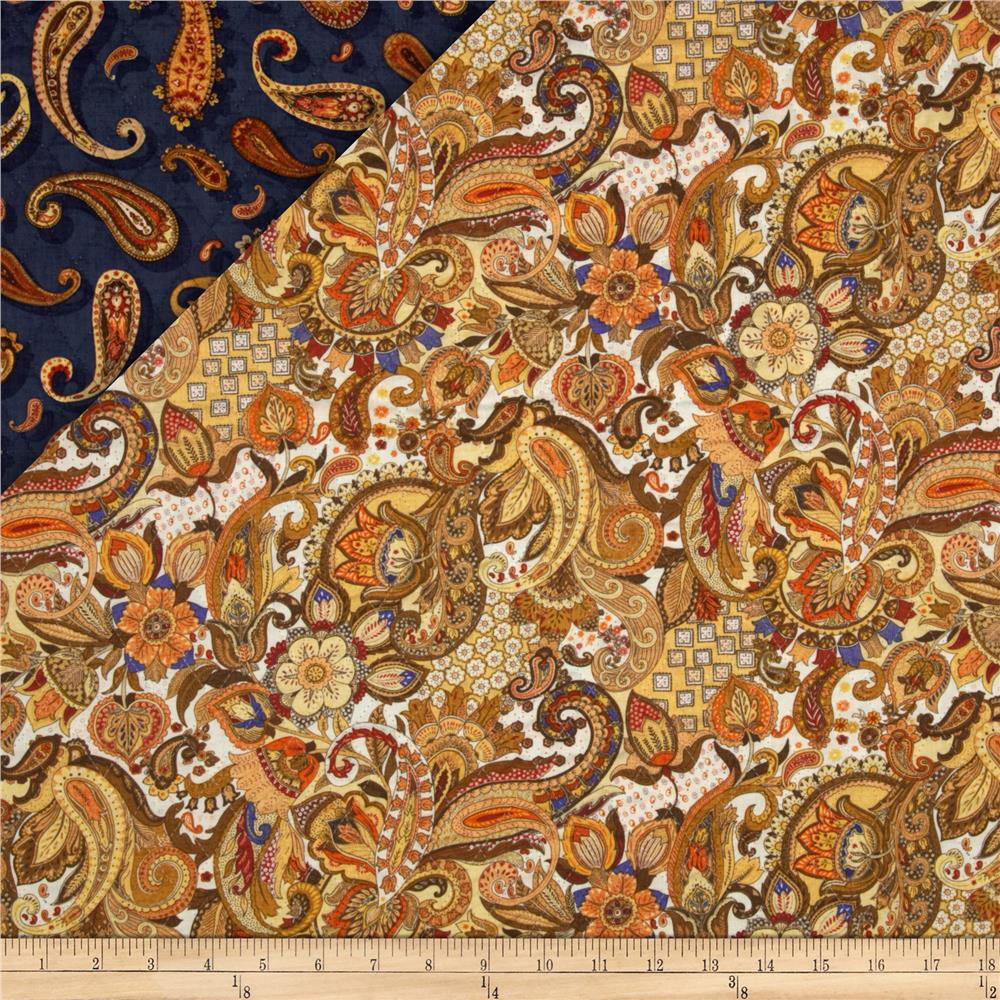 Double Sided Quilted Royal Paisley