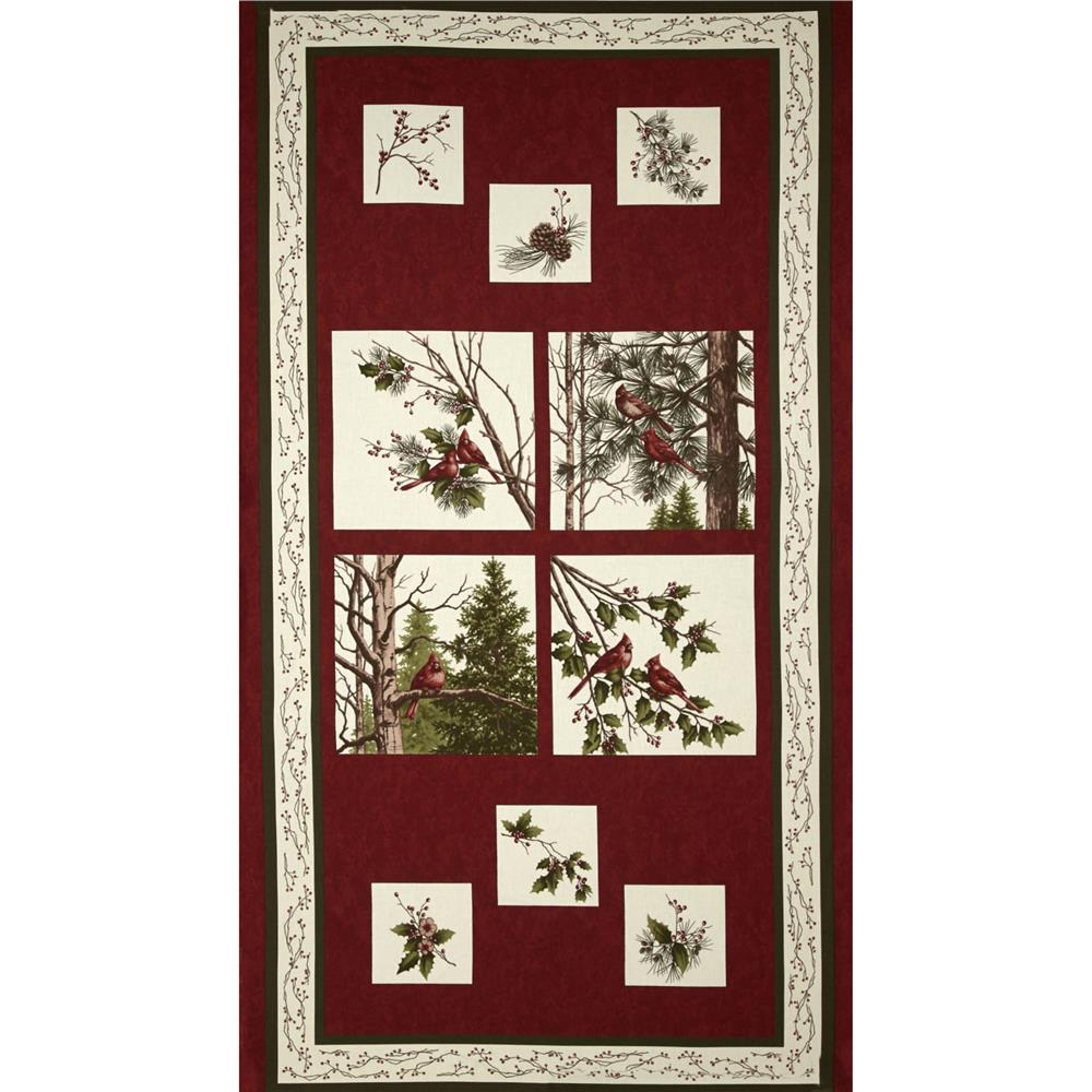Moda Winter's Song 24 In. Panel Scarlet