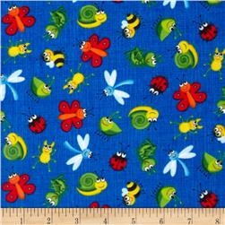 Timeless Treasures Happy Bugs Flannel Bugs on Sketch
