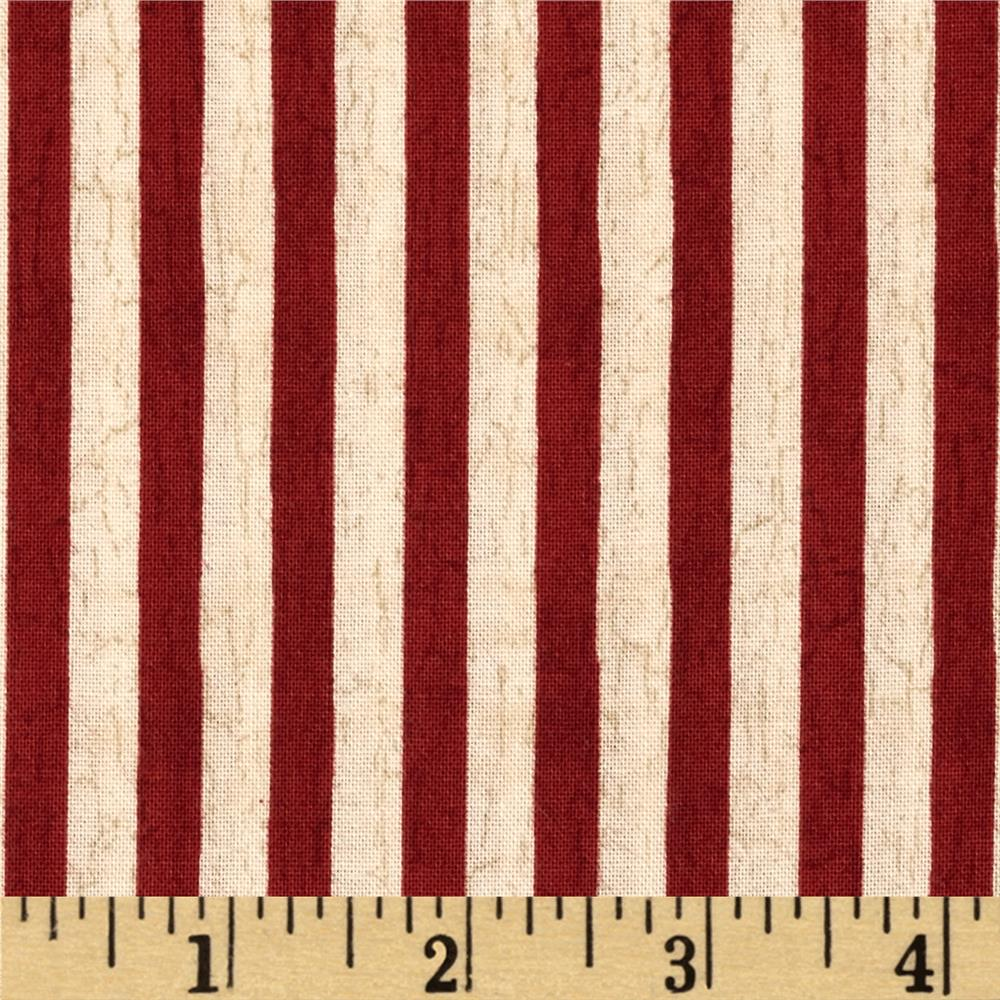 We the People Stripes Ivory/Red