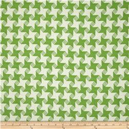P Kaufmann Indoor/Outdoor Houndstooth Jacquard Lime