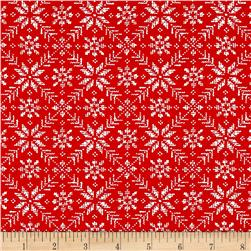 Moda Nordic Stitches Eight Leaf Rose Raud