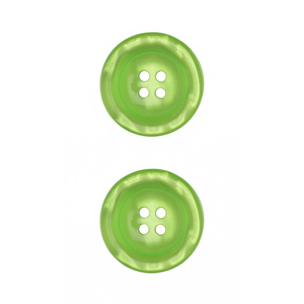 "Riley Blake Sew Together 1 1/2"" Pearl Button Lime"