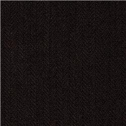 Designer Brushed Suiting Herringbone Brown