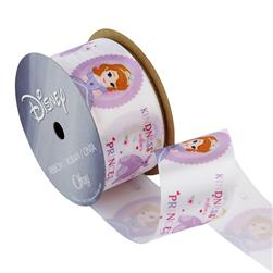 "1 1/2"" Sofia The First Ribbon Kindess White"
