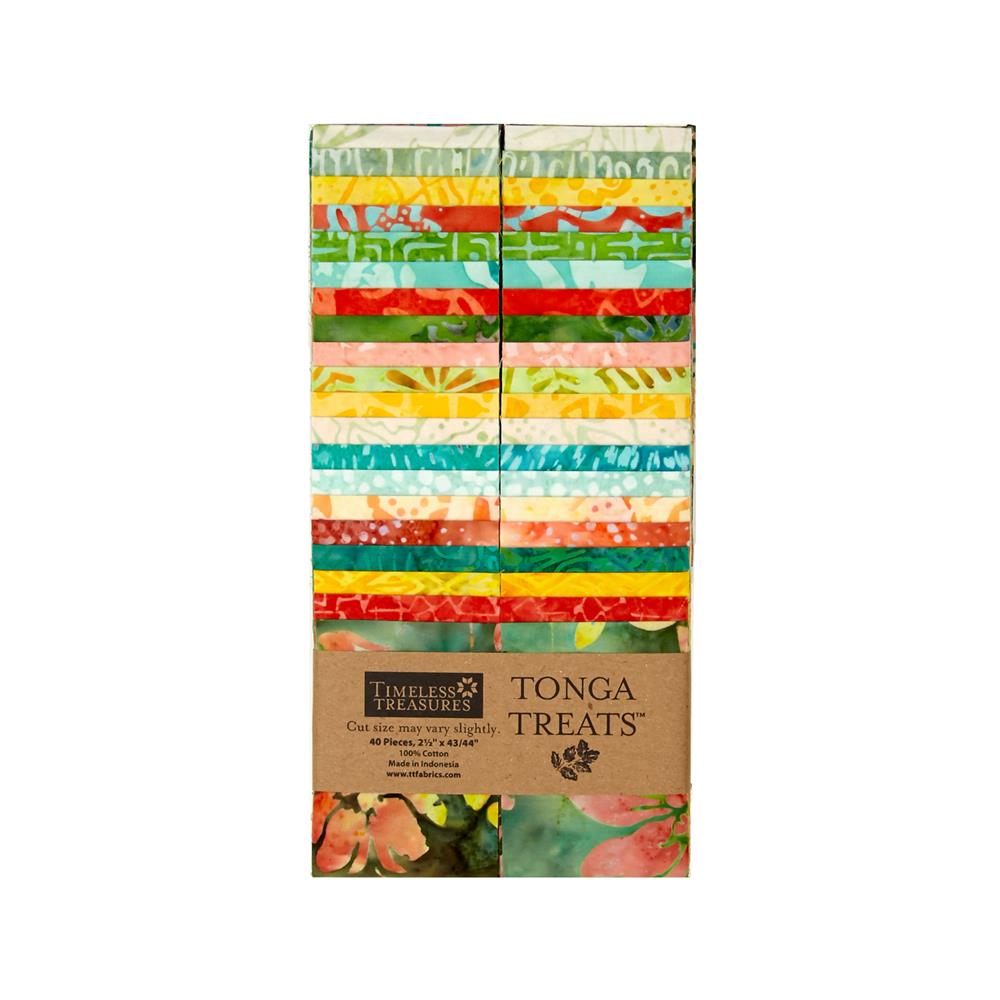 "Timeless Treasures Tonga Treat Salsa 2.5"" Strips"