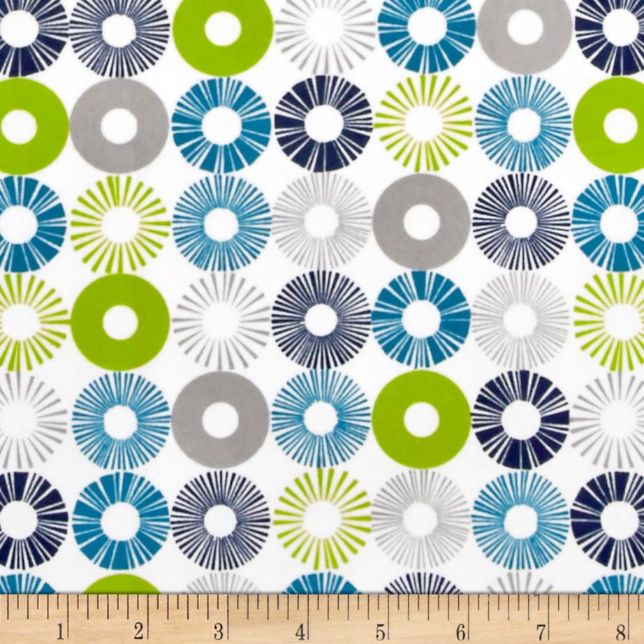 Cozy Cotton Flannel Circles Marine