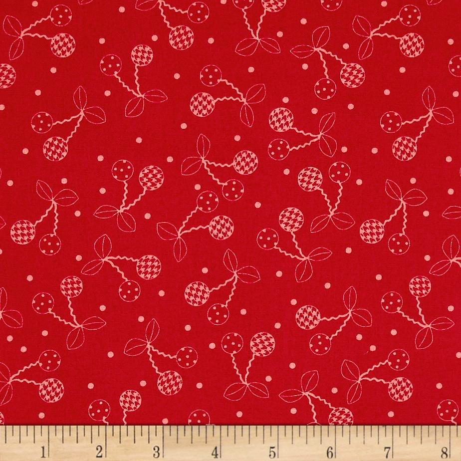Maywood Studio Kimberbell Basics Cheerful Cherries Pink/Red