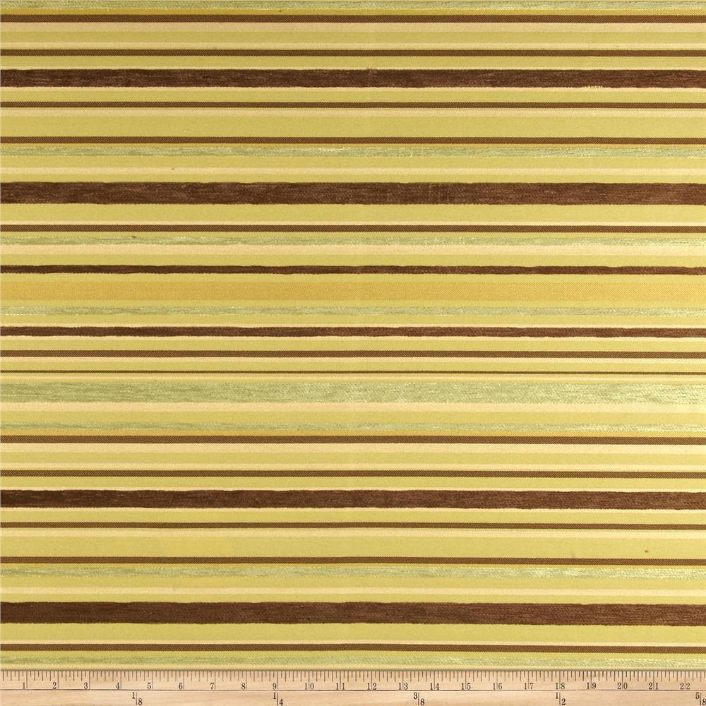 Robert Allen Promo Kings Stripe Jacquard Lemongrass