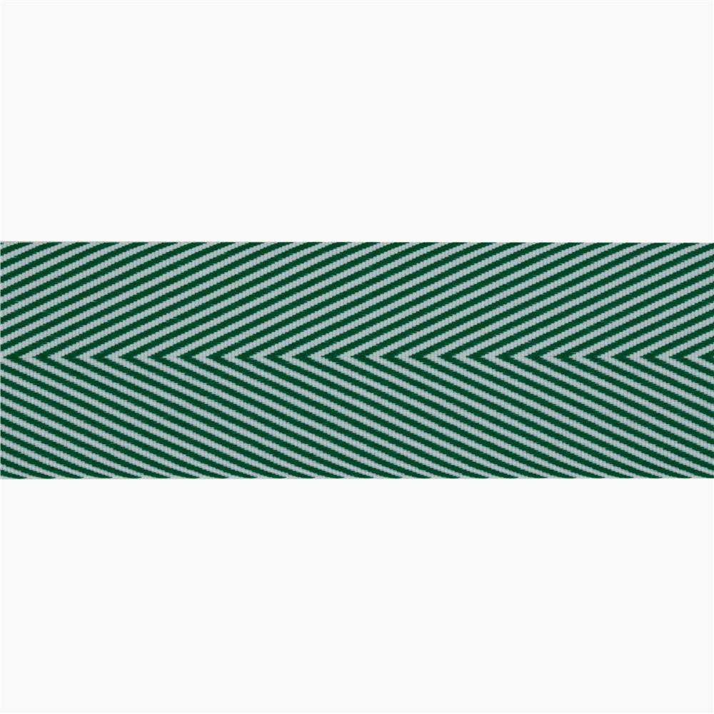 1 1/2'' Twill Tape Chevron Green