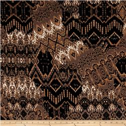 ITY Knit Aztec Print Tan/Black