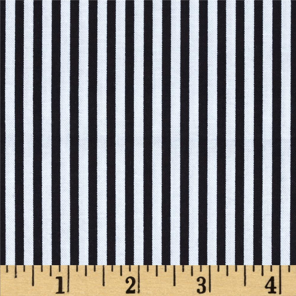 Michael Miller Cool Cats Little Stripe Black