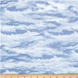 Sleigh Ride Clouds Dark Blue