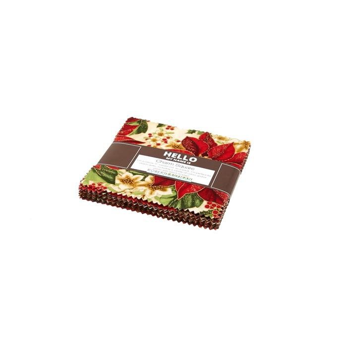 "Kaufman Holiday Flourish 5"" Charm Pack Multi"