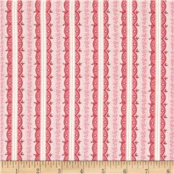 Symphony Rose Stripe Pink Fabric