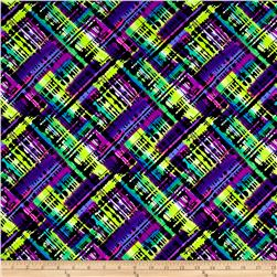 Torn Rainbow Printed Athletic Knit Purple/Multi