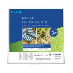 "Fairfield Poly-Fil Nu-Foam 15"" x 17"" x 1"""