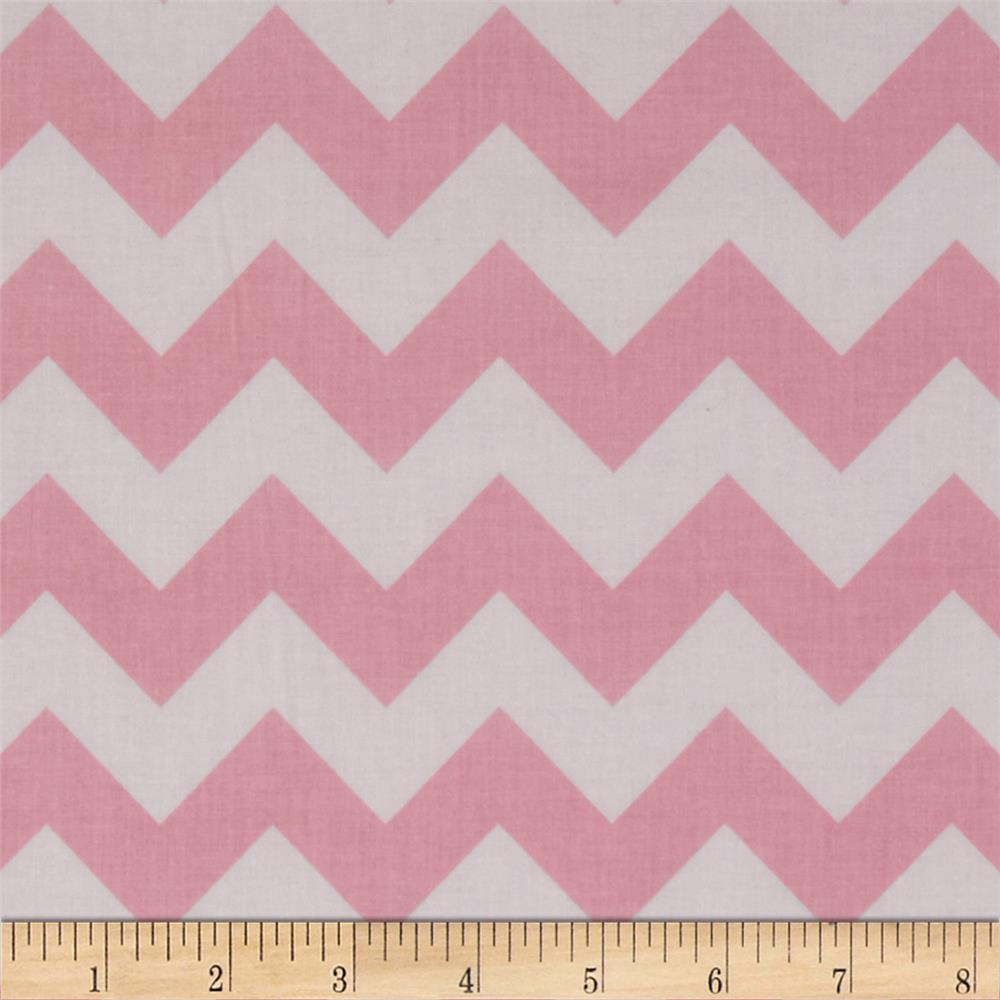 "Riley Blake 58"" Manufactures Cut Medium Chevron Baby Pink"