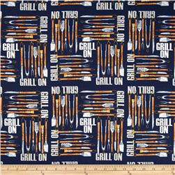 Grill On Tools Blue Fabric
