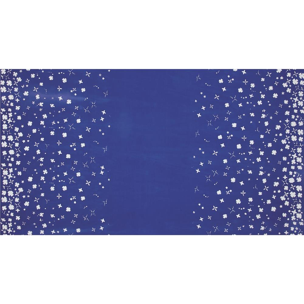 Alison Glass The Blues Batik Petals Border Blue