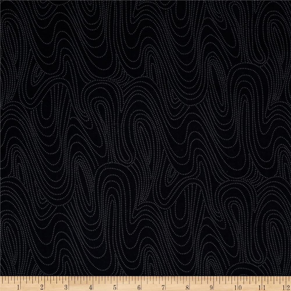 Marcus High Contrast Wavy Black