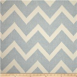 P Kaufmann Indoor/Outdoor Chevron Jacquard Ocean Fabric