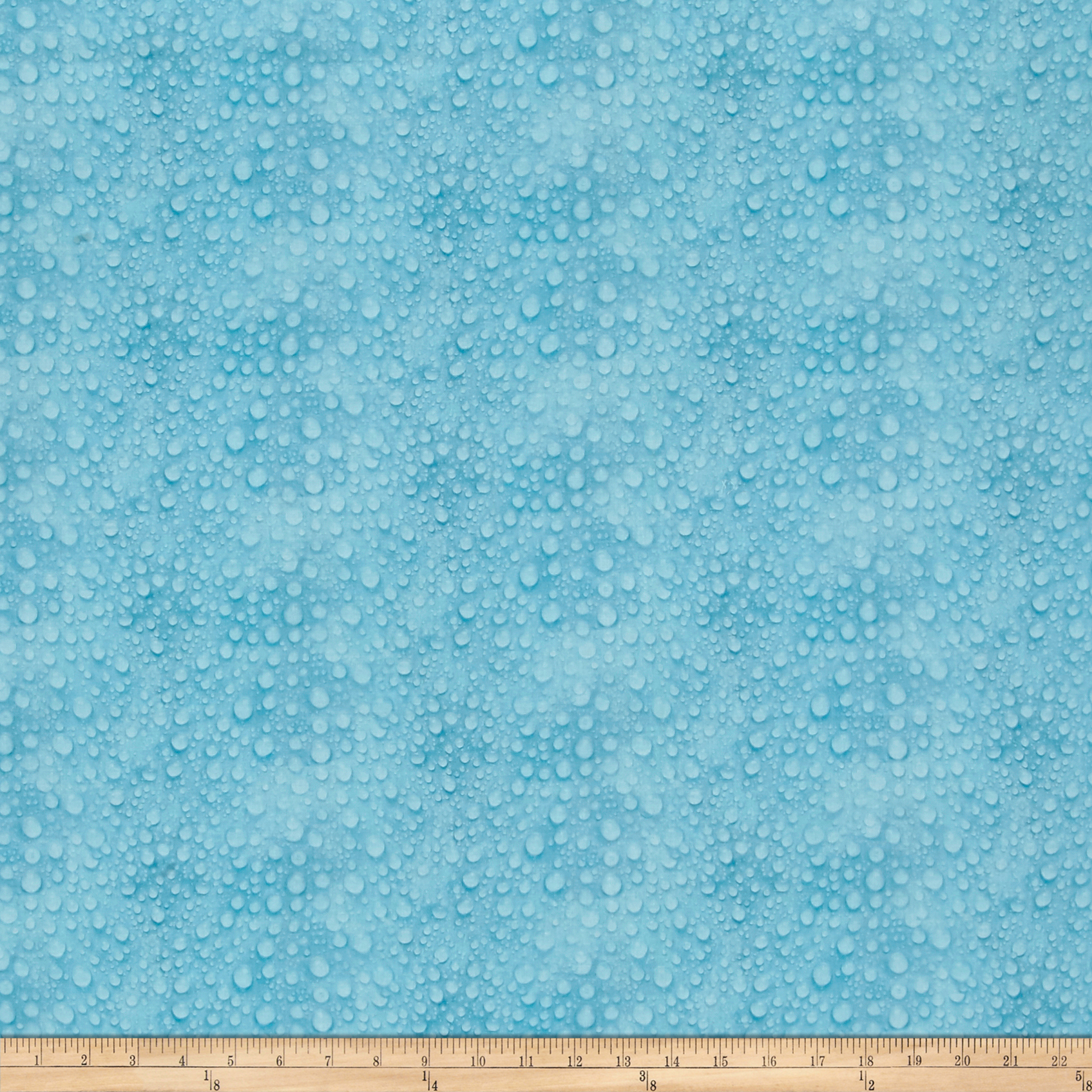 Giverny Digital Rain Drops Blue Fabric 0519225