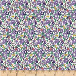 Liberty of London Classic Tana Lawn Betsy Ann White/Purple